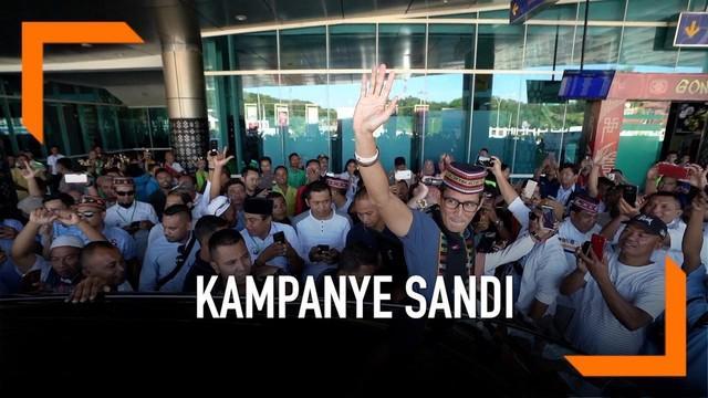 Sandiaga Uno melanjutkan kampanyenya ke Labuan Bajo dan Pulau Komodo. Disana Sandi berjanji akan mengembangkan lagi pariwisata jika menang Pilpres 2019.