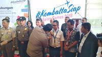 PT Angkasa Pura II melakukan deklarasi kesiapan penyelenggaraan Asian Games di Hangar 4 GMF, Bandara Soekarno Hatta (Liputan6.com/ Pramita Tristiawati)