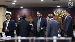 Suasana saat pemilihan Ketua Mahkamah Konstitusi (MK) di Jakarta, Senin (2/3). Anwar Usman terpilih sebagai Ketua MK menggantikan Arief Hidayat. (Liputan6.com/Angga Yuniar)