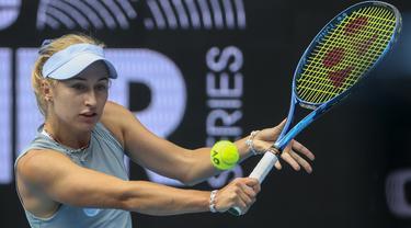 Daria Alexeyevna Gavrilova adalah seorang pemain tenis profesional Australia peringkat 452 dunia. Dia mewakili Rusia hingga 2015, sebelum pindah kewarganegaraan ke Australia. (Foto: AP/Hamish Blair)