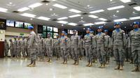 Polri mengirim 140 personelnya untuk menjadi pasukan perdamaian PBB (UNAMID) di Sudan. (Liputan6.com/Hanz Jimenez Salim)
