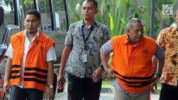 Ahmadi diperiksa KPK terkait suap proyek infrastruktur dari Dana Otonomi Khusus Aceh Anggaran 2018 dan Anjas Asmara terkait melakukan suap proyek infrastruktur di kawasan Lampung Selatan.(merdeka.com/dwi narwoko)