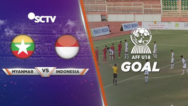 Berita video momen gol free kick Timnas Indonesia U-18, Rizky Ridho, saat bermain imbang 1-1 melawan Myanmar di Grup A Piala AFF U-18 2019, Rabu (14/8/2019).
