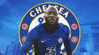 Chelsea - Ilustrasi Romelu Lukaku (Bola.com/Adreanus Titus)
