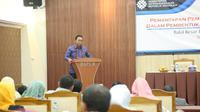 """al ini disampaikannya saat memberikan sambutan serta meresmikan acara """"Pemantapan Pemahaman dan Kesiapan Kota Bekasi Dalam Pembentukan Skill Development Centre (SDC), di Bekasi, Jawa Barat, (16/11). (foto:@Kemnaker)"""