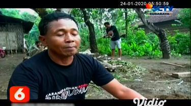 Mengalami kesulitan air bersih saat musim kemarau sebagian warga di Ponorogo, Jawa Timur membuat inovasi gerakan menabung air saat musim hujan aksi tersebut dilakukan agar menerapkan teknik biopori menanam pipa agar air hujan terserap tanah.