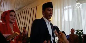 Usai mengikuti prosesi adat pernikahan Kahiyang Ayu, Jokowi menyempatkan diri memberikan wejangan pada putrinya.