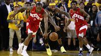 Toronto Raptors mengalahkan Golden State Warriors 114-110 pada gim keenam NBA Finals 2019 di Oracle Arena, Jumat (14/6/2019) pagi WIB.(AFP/Ezra Show)