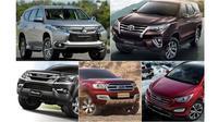 Saat ini setidaknya ada lima model yang akan bertarung di pasar SUV 7-seater kelas atas.