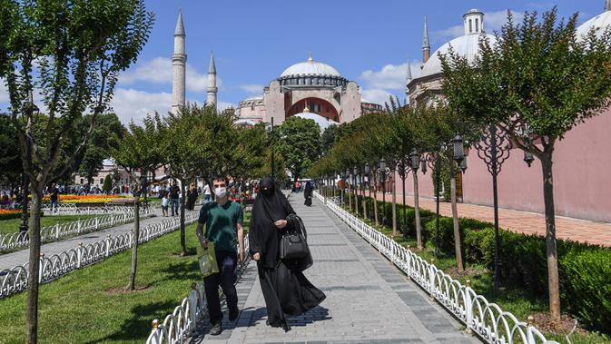 Kini Jadi Masjid, Ikon Suci Kristiani di Hagia Sophia Bakal Ditutup Selama Salat