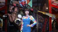 Vicky Shu saat mengunjungi Klenteng Kuan Sing Bio, Tuban