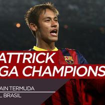 Berita video pemain Brasil termuda yang cetak hattrick di Liga Champions.