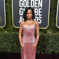 Regina King di red carpet Golden Globes 2019 di The Beverly Hilton Hotel, Beverly Hills, California, Amerika Serikat. (FRAZER HARRISON / GETTY IMAGES NORTH AMERICA / AFP/Asnida Riani)