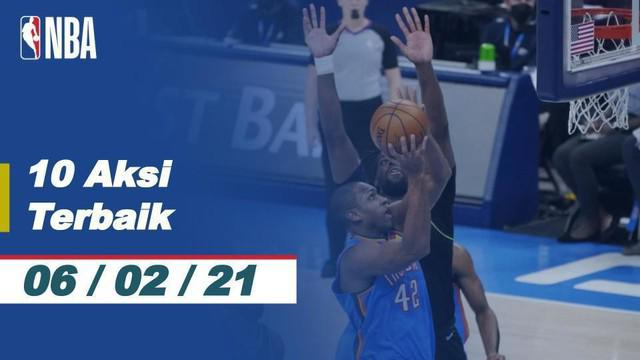 Berita video 10 aksi terbaik NBA tanggal 6 Februari 2021, salah satunya aksi dari dari Giannis Antetokounmpo