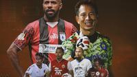 Liga 1 - Trivia Jagoan Tua yang Masih Akan Meramaikan Liga 1 2021 (Bola.com/Adreanus Titus)