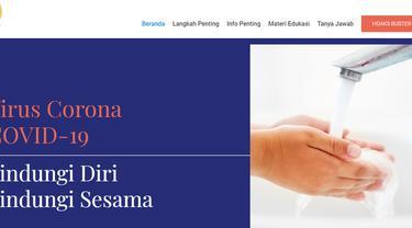 Masyarakat Bisa Akses Informasi Terkini Virus Corona dari Situs Resmi COVID-19