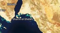 Lokasi serangan pisau di kota resor wisata Laut Merah di Mesir. (Google Maps)