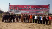 Apel Gabungan persiapan bencana di Garut (Liputan6.com/Jayadi Supriadin)
