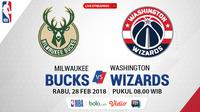 Milwaukee Bucks Vs Washington Wizards_2 (Bola.com/Adreanus Titus)