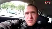 Wajah Brenton Tarrant terduga pelaku penambakan di Christchurch, Selandia Baru, Jumat (15/3). Warga Australia berusia 28 tahun tersebut melepaskan tembakan secara brutal ke dua masjid di Christchurch. (AP Photo)