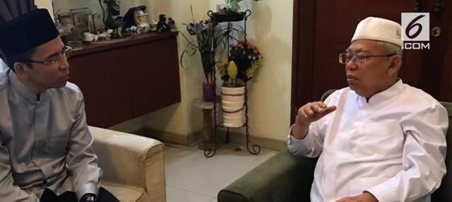 Gubernur NTB, TGB Zainul Majdi memberikan dukungannya kepada Ma'ruf Amin sebagai calon wakil Presiden yang mendampingi Joko Widodo.