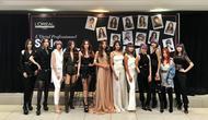 Model-model yang merepresentasi tatanan rambut para grand finalis L'Oreal Professionnel Style and Colour Trophy 2019. (Liputan6.com/Asnida Riani)
