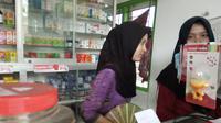 Langkanya masker disampaikan apotek-apotek di Blora, Jawa Tengah (Foto: Liputan6.com/ Ahmad Adirin)