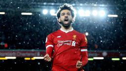 2. Mohamed Salah (Liverpool) - Mantan pemain Chelsea ini merupakan salah satu pilar kejayaan Liverpool saat ini. Berharga 108 Juta Poundsterling merupakan nilai yang pantas untuk penyerang cerdas dan mematikan di depan gawang lawan. (AFP/Lindsey Parnaby)