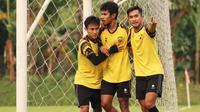 Para pemain AHHA PS Pati merayakan gol ke gawang Persija Jakarta. (Dok AHHA PS Pati)