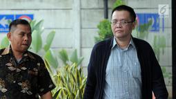 Dadang Priyatna merupakan pegawai PT Bali Pacific Pragama yang menjadi rekanan Pemerintah Kota Tangerang Selatan dalam pengadaan alat kesehatan kedokteran umum tahun anggaran 2012. (merdeka.com/dwi narwoko)