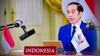 Presiden Joko Widodo atau Jokowi mengikuti Konferensi Tingkat Tinggi (KTT) G-20 secara virtual. (Dok Biro Pers Sekretariat Presiden)