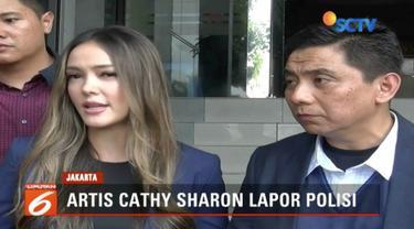 Cathy Sharon lapor polisi terkait akun media sosial yang menyebarkan foto dirinya terlibat prostitusi online artis.