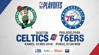 Playoff 2018 Boston Celtics Vs Philadelphia 76ers Game 5 (Bola.com/Adreanus TItus)