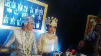 Ayudia Bing Slamet dinikahi Muhammad Pradana Budiarto atau Ditto, Minggu (13/9/2015). (foto: Julian Edward)