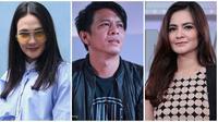 Luna Maya, Ariel NOAH, dan Cut Tary. (Nurwahyunan/Adrian Putra/Bintang.com)