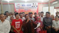 80 advokat menyatakan dukungannya ke Jokowi-Ma'ruf Amin, dalam Pilpres 2019. (Liputan6.com/Yandhi Deslatama)