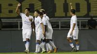 Striker Arema, Kushedya Hari Yudo membukukan dua gol ketika tim mengalahkan Tira Persikabo dengan skor 2-0. (Muhammad Iqbal Ichsan/Bola.com)