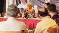 Cagub Jawa Timur nomor urut 1 Khofifah Indar Parawansa. (Liputan6.com/Dian Kurniawan)