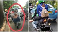 Gaya Duduk Penumpang Ojek Online Ini Nyeleneh dan Kocak Banget (sumber:Instagram/dramaojol.id)