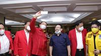 saat Sosialisasi Empat Pilar MPR RI dengan Dewan Pimpinan Nasional Sentral Organisasi Karyawan Swadiri Indonesia (Depinas SOKSI) di Manado, Selasa (17/11/20).