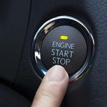 Engine start stop button. (Car from Japan)