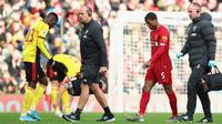Georginio Wijnaldum ditarik keluar pada babak kedua kala Liverpool mengandaskan Watford 2-0 dalam lanjutan Premier League, Sabtu (14/12/2019). (Dok: Liverpool FC)