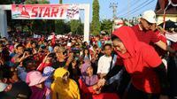 Puti Guntur Soekarno ikut jalan sehat di Ngawi.