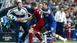 Pelatih Chelsea, Frank Lampard, saat melawan Liverpool pada laga Piala Super Eropa 2019 di Stadion Vodafone Park, Istanbul, Rabu (4/8). Liverpool mengalahkan Chelsea lewat adu penalti dengan skor 5-4. (AP/Emrah Gurel)