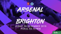 Premier League: Arsenal vs Brighton. (Bola.com/Dody Iryawan)