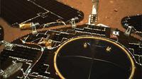 Foto dari Mars kiriman rover Zhurong milik China. Dok: CNSA
