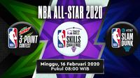 Three Point Contest, Slam Dunk sampai Skill Challenge di NBA All-Star 2020, Minggu (16/2/2020)