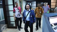 Direktur PT Indofood, Fransiscus Welirang saat tiba untuk mengikuti program Tax Amnesty di Dirjen Pajak, Jakarta, (30/9). Keduanya  berpartisipasi memanfaatkan kesempatan dari pemerintah untuk mendukung program tax amnesty. (Liputan6.com/Angga Yuniar)