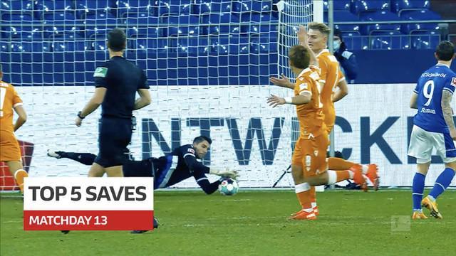 Berita video 5 penyelamatan terbaik yang terjadi pada pekan ke-13 Bundesliga 2020/2021.