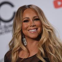 Mariah Carey saat menghadiri American Music Awards 2018, 9 Oktober 2018, di Los Angeles, California. (VALERIE MACON / AFP/Asnida Riani)